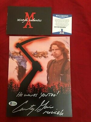 COURTNEY GAINS AUTOGRAPHED SIGNED 8X10 PHOTO! CHILDREN OF THE CORN! (Courtney Beckett)