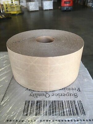 Reinforced Kraft Natural Gummed Tape 5 Rolls 450 Ft X 70mm Free Shipping