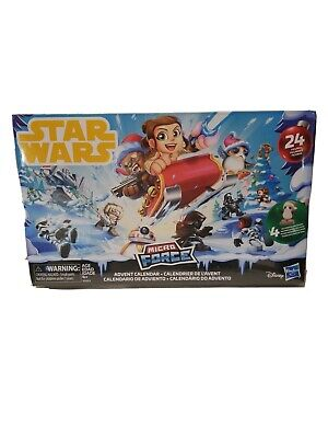 Star Wars Micro Force Advent Calendar 24 Figures Disney, Ships In Bubble Mailer