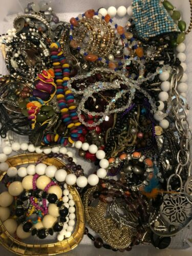 5 lbs Jewelry Lot for Crafting/Repurpose (#27)