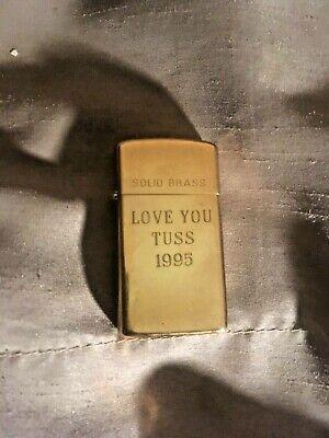 Zippo 1932-1992 Brass Lighter w/Inscription