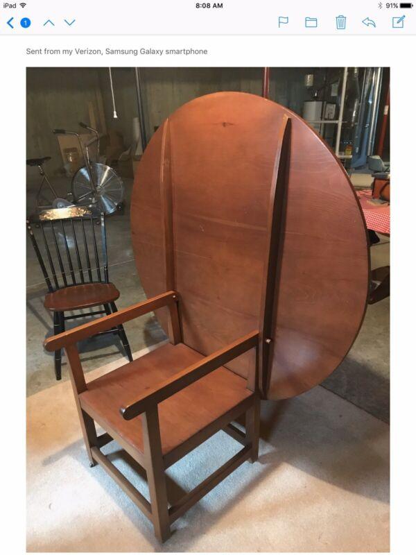 Antique Combination Chair Table Flip New England Pub Table Farm House Primitive