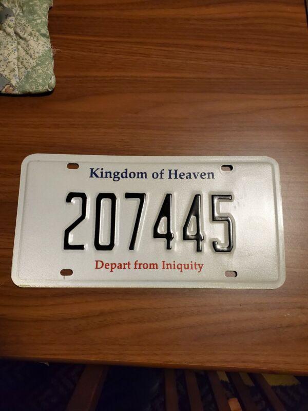 Rare Kingdom Of Heaven License Plate
