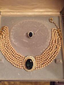 Lady Diana necklace and ring set