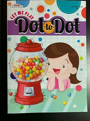 KAPPA DOT TO DOT ACTIVITY BOOK FOR KIDS LET ME PLAY NEW FUN! GAMES GUMBALL COVER - Dot To Dot Game