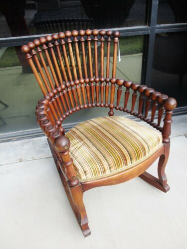 HUNZINGER WALNUT AESTHETIC VICTORIAN LOLLIPOP ROCKER