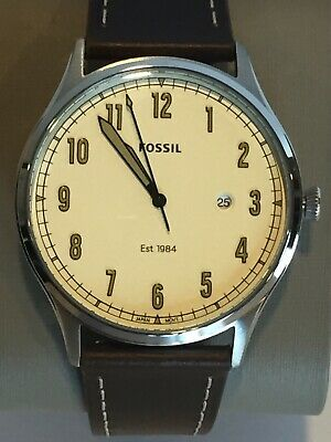 Fossil Forrester Watch FS5589 Brown Leather Strap 42mm