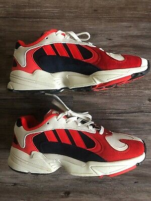 Adidas Yung 1 Collegiate White Navy Red Size 7.5 B37615 Goku Men's Shoes Rare - Goku Shoes