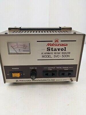 Matsunaga Stavol Svc-500n Automatic Voltage Regulator Industrial Power Supply