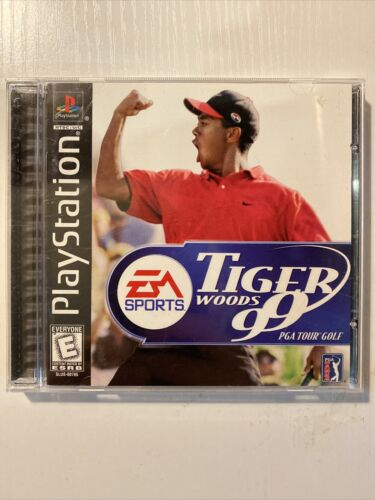 Tiger Woods 99 - PGA Tour Golf Sony PlayStation 1, 1998 - Good Condition - $5.00