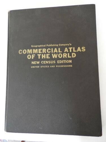 Commercial Atlas of the World New Cencus Edition US Possesions 1931