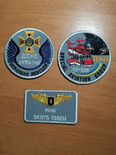 UKRAINE PATCH FIRE RESCUE AIR FORCE HELICOPTER  AVIATION GROUP - ORIGINAL! 2021