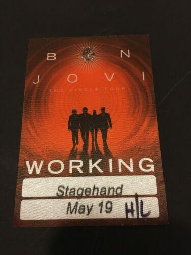 5/19 2010 BON JOVI THE CIRCLE TOUR FABRIC BACKSTAGE PASS HERSHEY PA.