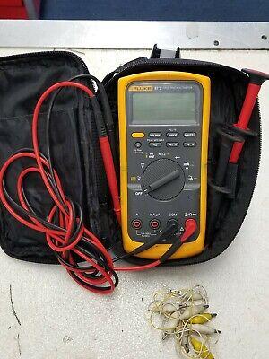 Fluke 87-v Industrial True Rms Digital Multimeter Wleads And Case