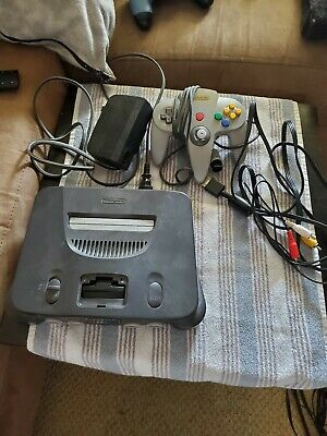 Nintendo 64 N64 Game Console System + Controller Cords WORKING play US & Japan Play Game System