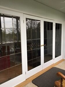 Inside wood French doors