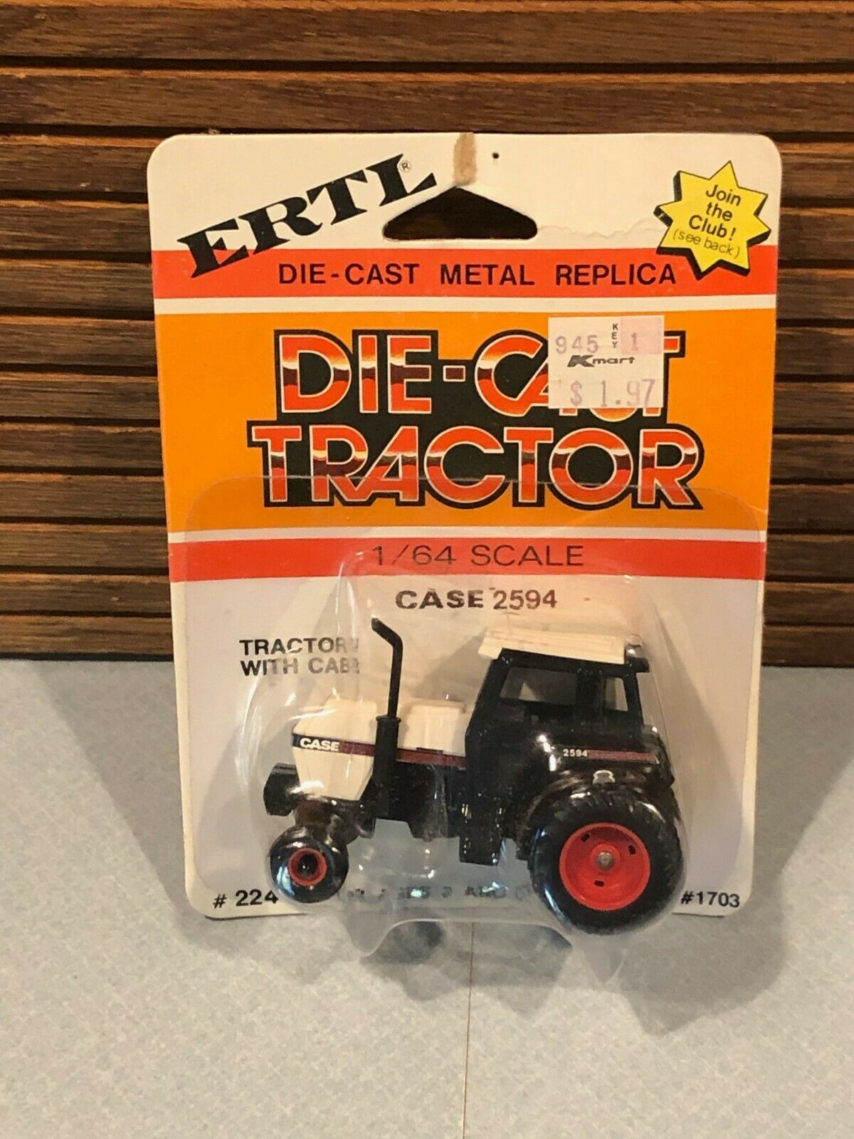 Ertl Case 2594 1/64 scale diecast tractor Original Package