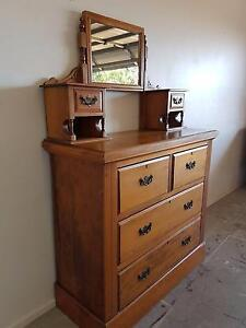 Rustic Antique Chest of Drawers North Lakes Pine Rivers Area Preview