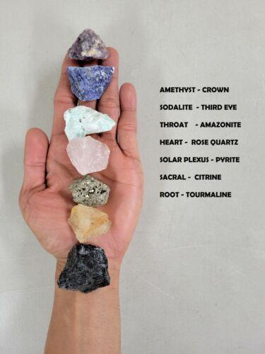 7 CHAKRA Crystals Set - Raw Natural Healing Crystals Collection Rough Gemstones