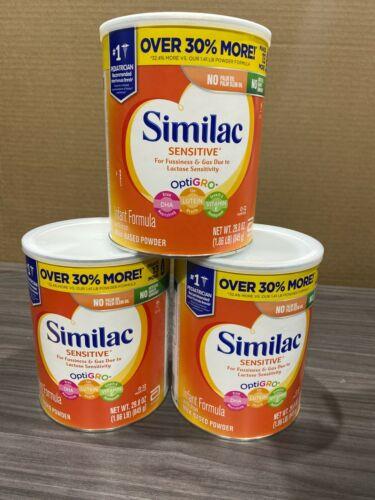 3 x Similac Sensitive 29.8oz Formula Cans - Expires January 2022+