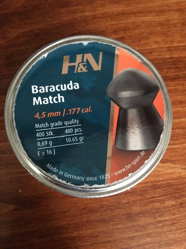 H&N 177 CAL BARACUDA ROUND NOSE 10.65 GR AIRGUN PELLETS (400 ct)