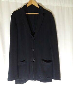 Altea Men's Cotton Blazer Navy Size L Made in Italy