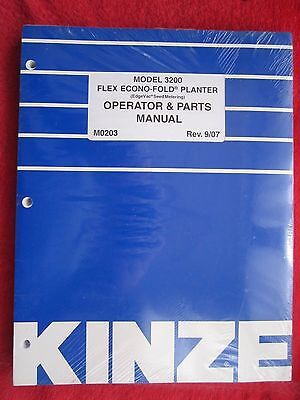 2007 Kinze Model 3200 Flex Econo-fold Planter Operators Parts Manual M0203