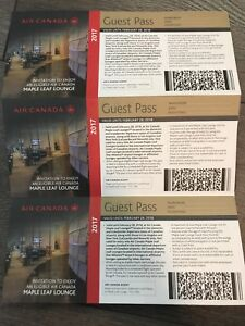 Air Canada Maple Leaf guest lounge passes