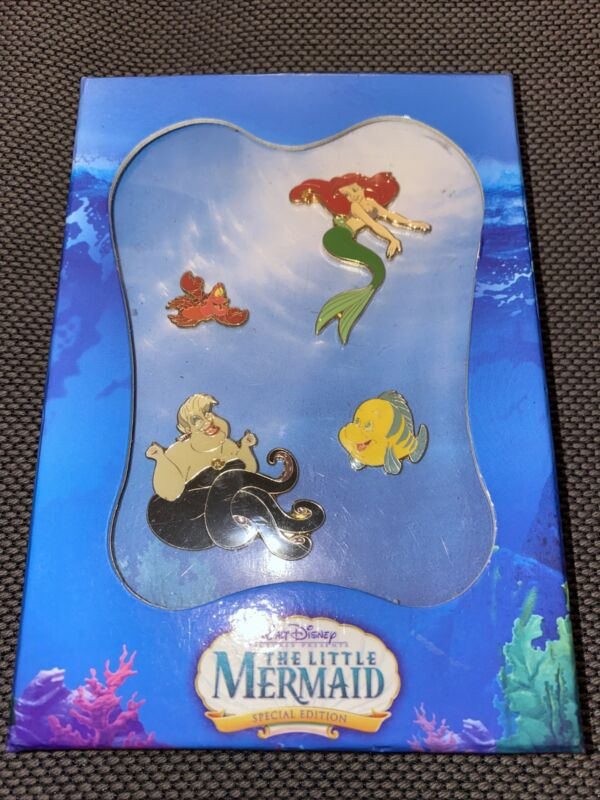 NEW Authentic US Disney The Little Mermaid (2006) Special Edition Pin Set *RARE*