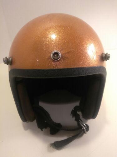 Vintage Gold Glitter Motorcycle Helmet  / Bike