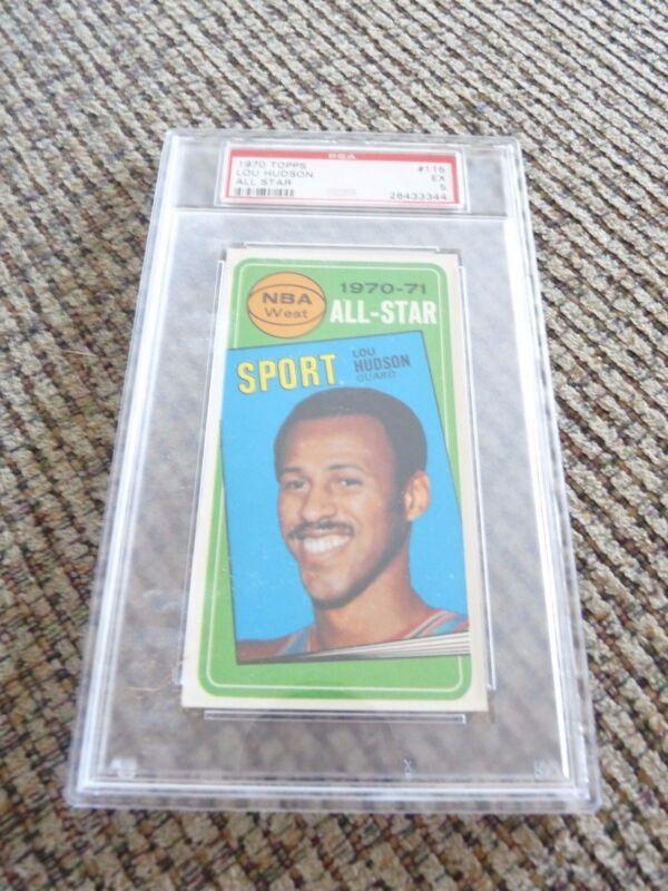Lou Hudson 1970 Topps Tall Boy #115 Basketball Card PSA Graded Slabbed EX 5