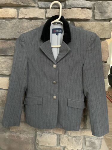 EOUS YOUTH GRAY ENGLISH SHOW COAT SIZE 10