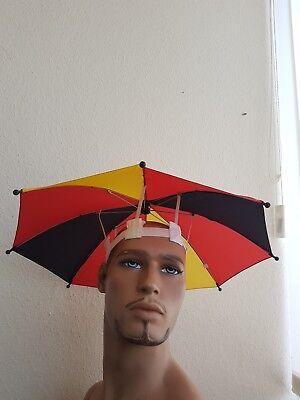 Regenschirm Deutschland Kopfregenschirm Kopfschirm Schirm Sonnenschirm Fußball