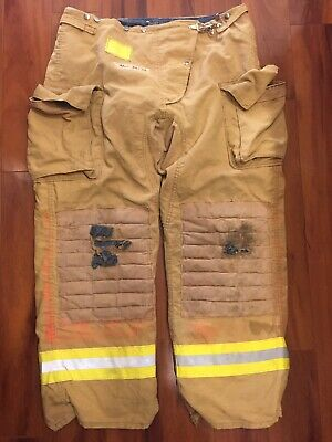 Firefighter Honeywell Morning Pride Turnout Bunker Pants 42x32 Costume Used