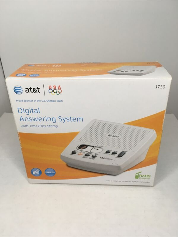 AT&T Corded Digital Answering System 1739 White W/ English And Spanish Prompts!
