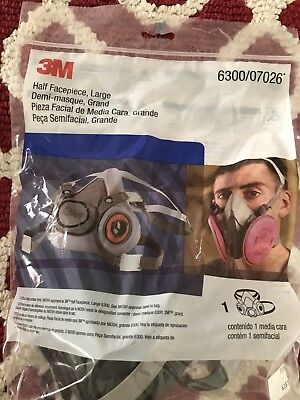 3m Half Facepiece Size Large Reusable Respirator 630007026 Free Shipping