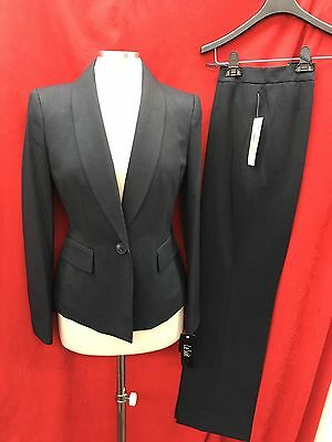 """LESUIT PANT SUIT/NEW WITH TAG/SIZE 12/LINED/RETAIL$200/INSEAM32""""/NAVY STRIPE"""
