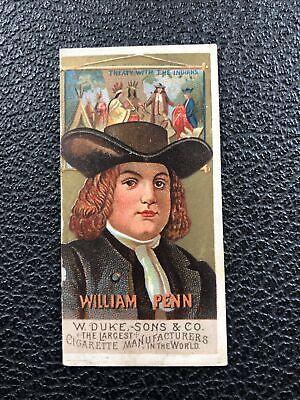 N76 Duke Great Americans Set Break William Penn