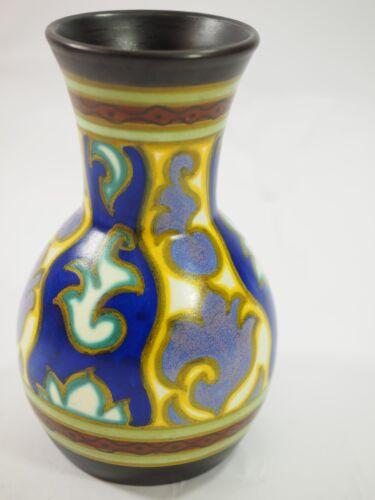 Beautiful Gouda Zuid Pottery FRITZ Vase 4288 Holland art Nouveau