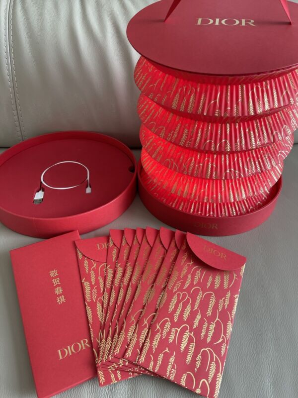 Limited Edition DIOR 2021 (year Of The OX) red Envelope & Lantern Gift Box Set