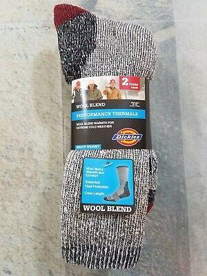 Crew Heavyweight Crew Socken (Dickies Wool Blend Crew Socks Performance Thermals Heavy Weight 2 Pair Pack)