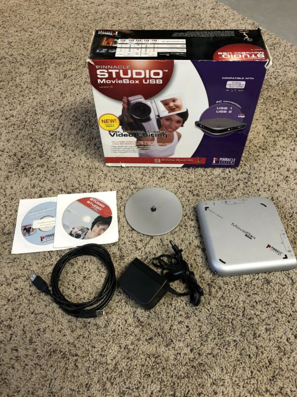 Pinnacle Studio MovieBox DV Video Editing System Device W/box Cable Stand