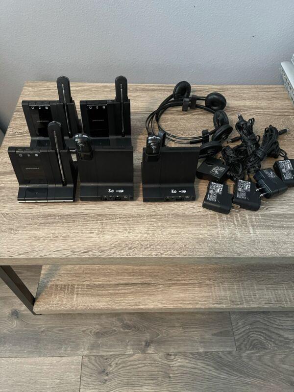 Lot of 5 Plantronics Savi W740-M Ear-Hook Headset - Black