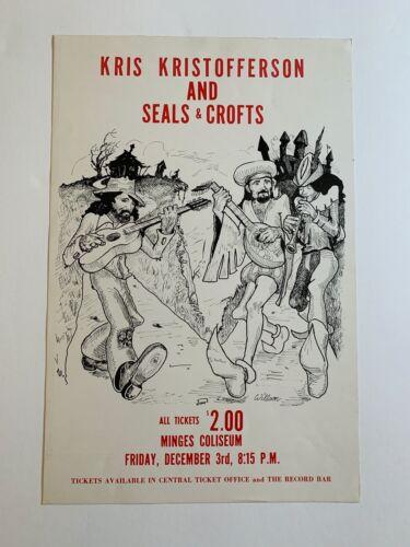 Kris Kristofferson and Seals & Crofts Original Concert Poster