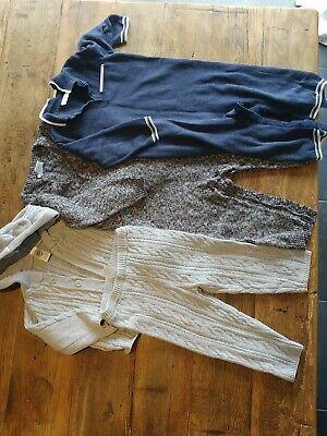 3 knit boys 18-24 month rompers good condition Next & Joe fresh & baby b'gosh