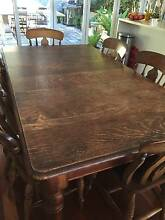 Lovely English Oak extendable dining table Avalon Pittwater Area Preview