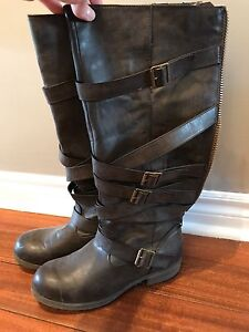 Madden Girl brown faux leather boots