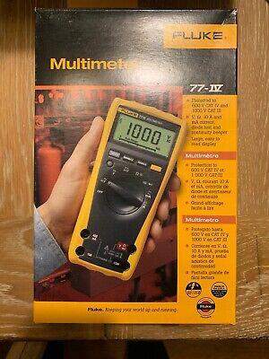 Fluke 77iv Multimeter Wtest Leads Manual Soft Case Included - New