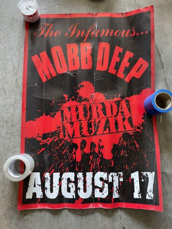 "39"" x 26.5"" MOBB DEEP MURDA MUZIK 1999 RELEASE PROMO STORE POSTER (ROUGH COND.)"