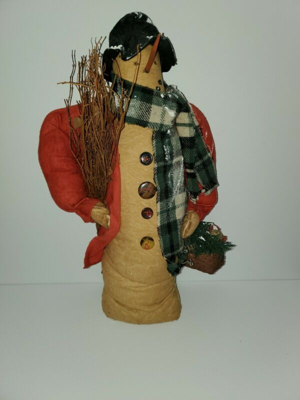 Primitive Snowman  22 inches tall